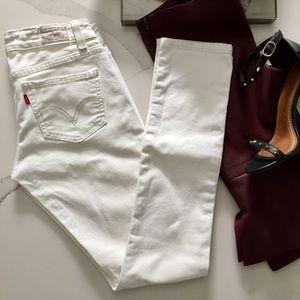 Levi's 524- White Skinny Jeans